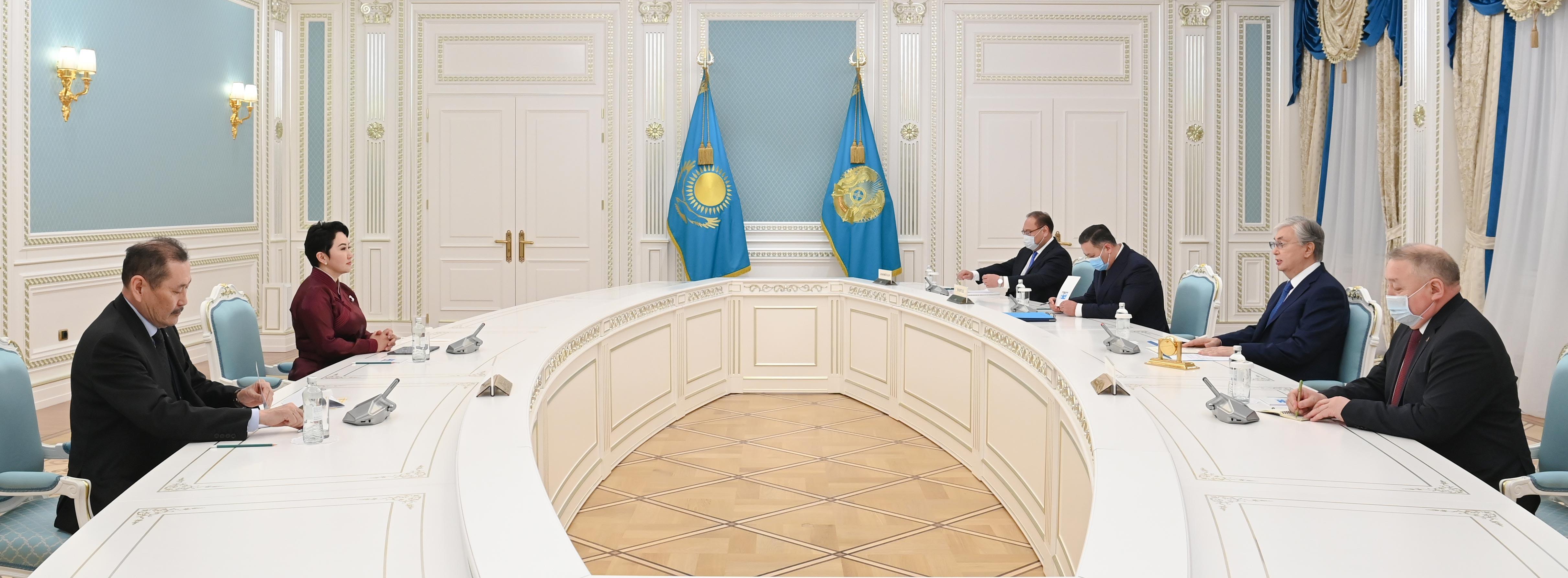 Тоқаев Моңғолияның Сыртқы қатынастар министрін қабылдады