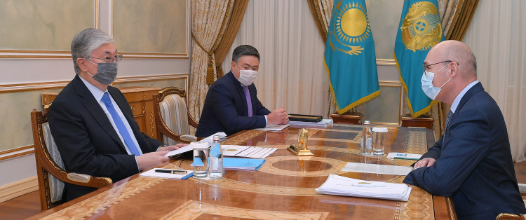 President Kassym-Jomart Tokayev receives Chairman of the Agency for Strategic Planning and Reforms Kairat Kelimbetov