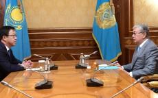 Kassym-Jomart Tokayev receives Yuri Pya, Chairman of the Board of National Scientific Cardiac Surgery Centre